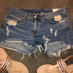 Rag & Bone denim cutoff shorts!